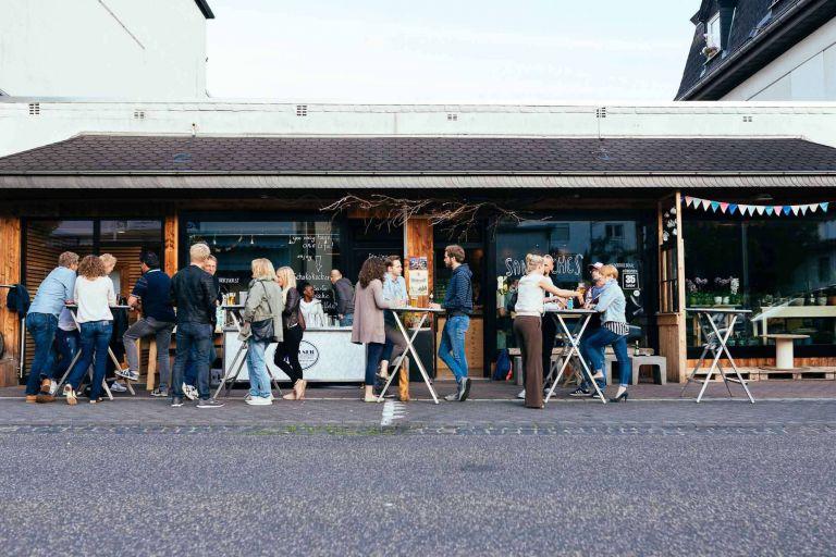 Aussenansicht des Cafe 35 in Bad Marienberg
