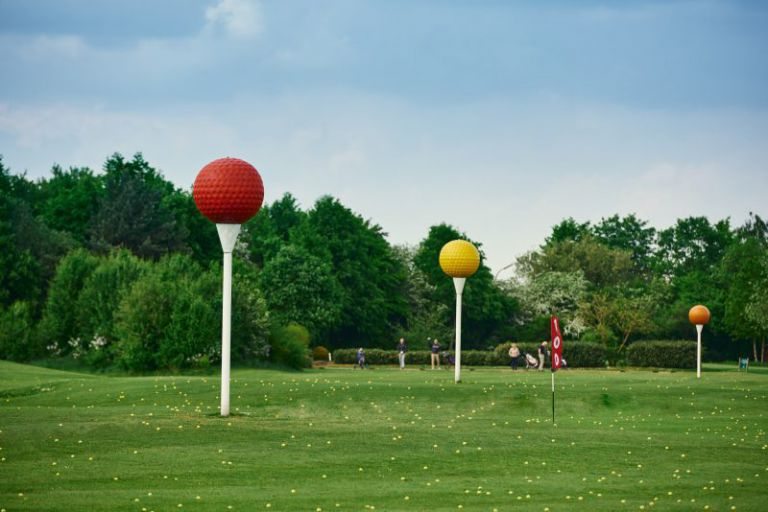 Die Drivingrange am Golfclub Clostermannshof.