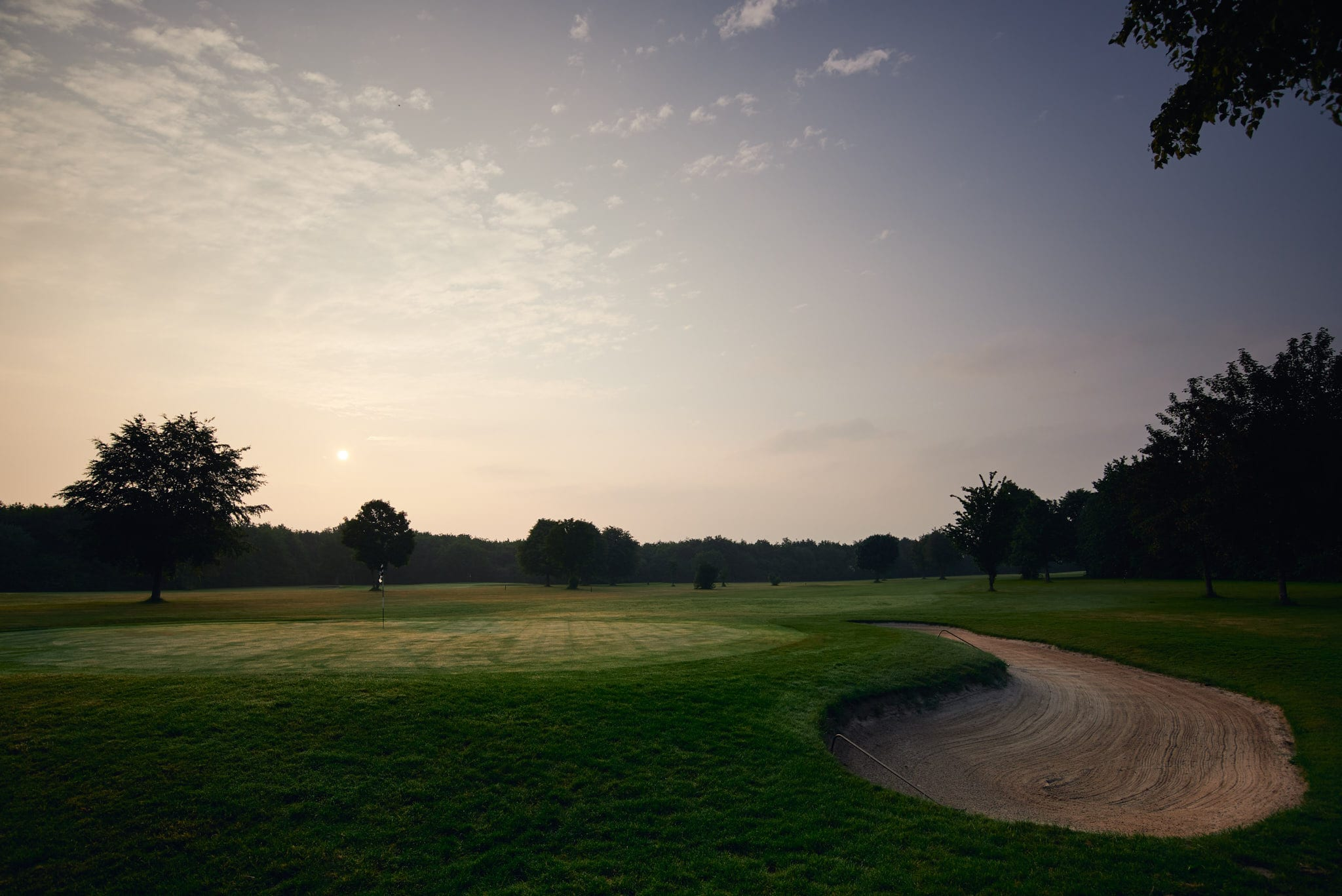Sonnenaufgang am Golfclub Clostermannshof.