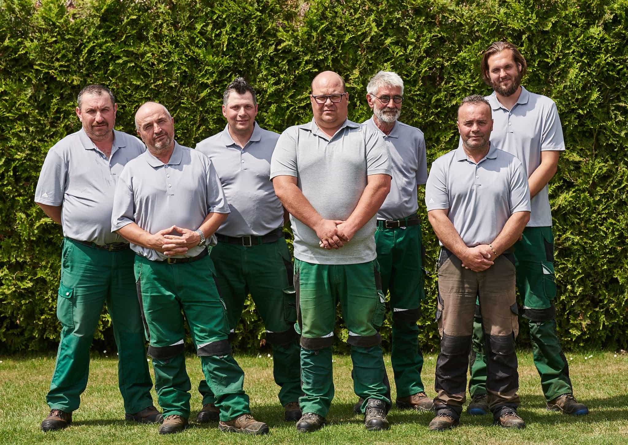 Das Greenkeeping Team des Golfclubs Clostermannshof