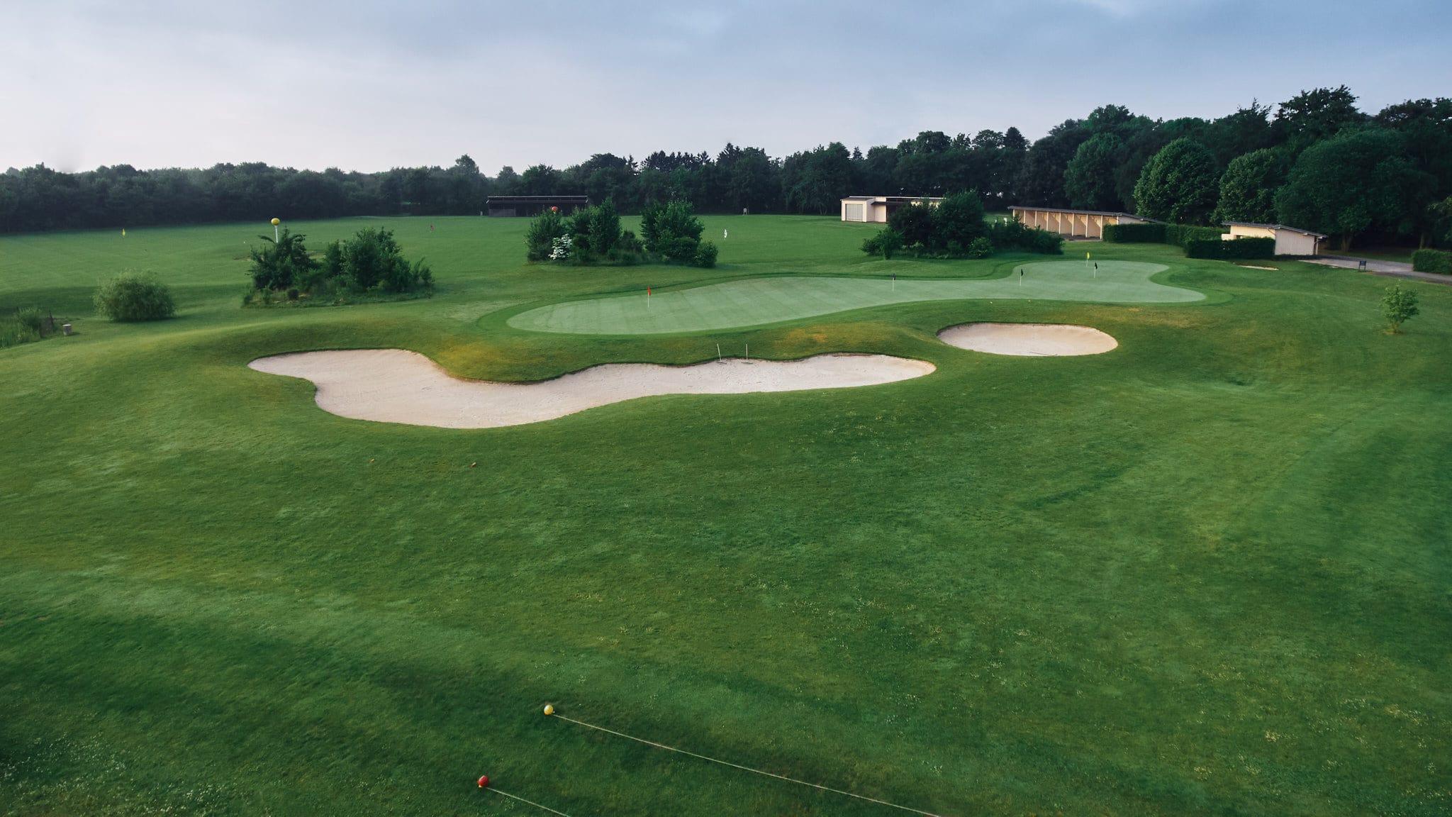 Drohneshot über den Golfclub Clostermannshof.