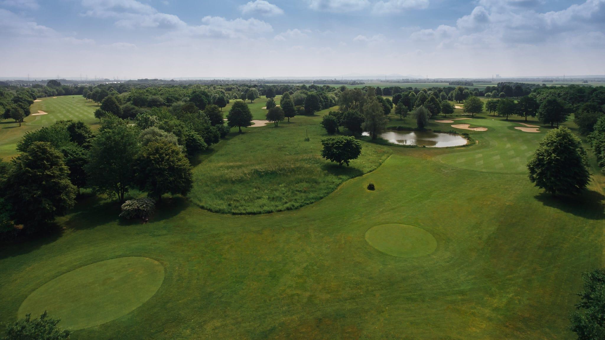 Seen auf dem Grün des Golfclubs Clostermannshof.
