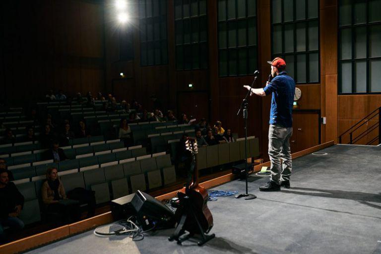 Quichotte auf der Bühne.